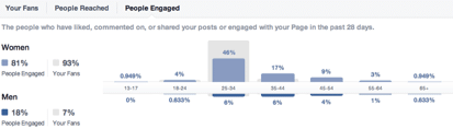 Summary of people engaged with your posts - diagram
