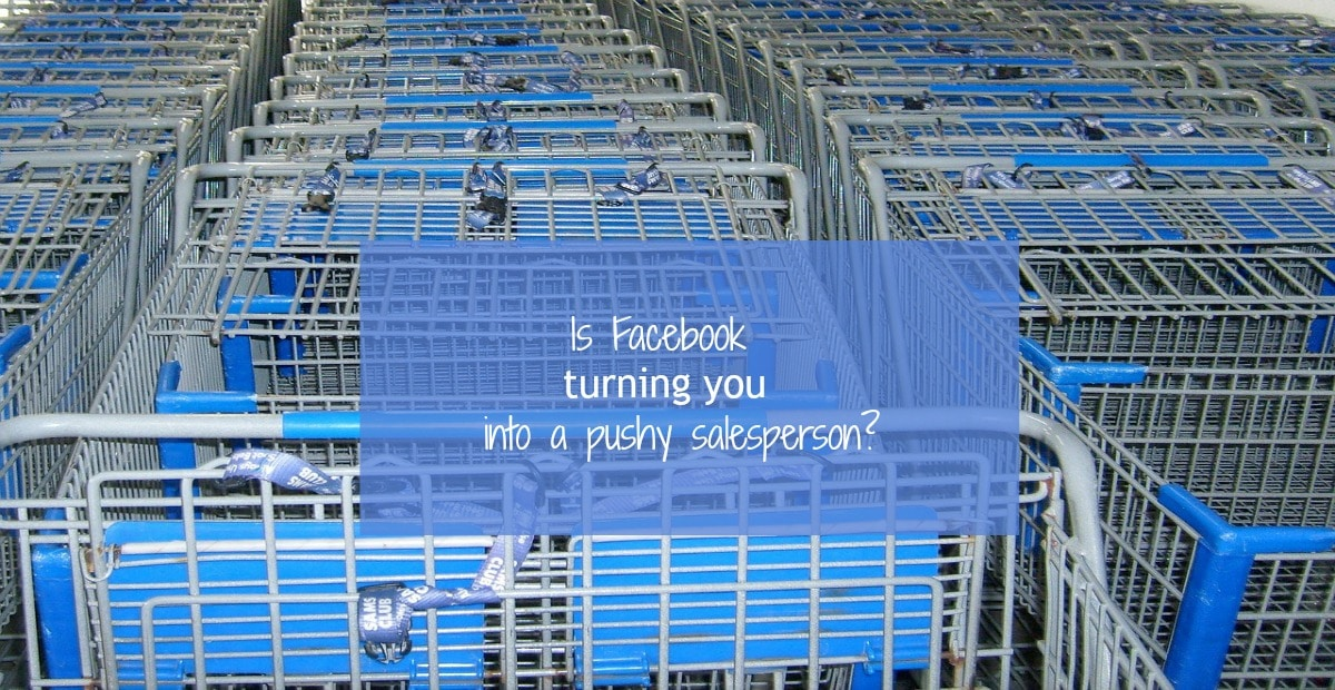 Facebook ads are not for selling!